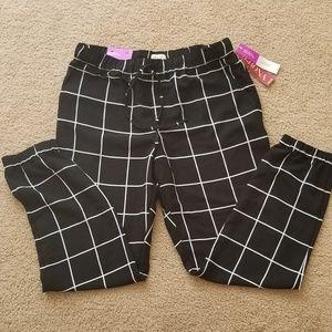 Merona black print joggers size Medium